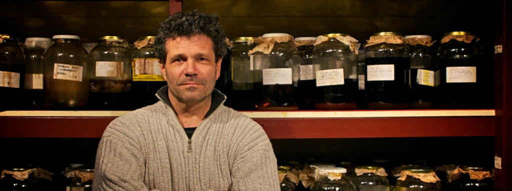 Master Herbalist Chris Marano in his apothecary.
